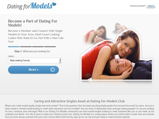 Dating For Models Homepage Image